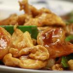 TRIPLE DELIIGHT - SHRIMP, CHICKEN, SCALLOPS, SNOW PEAS, MUSHROOMS, AND WATER CHESTNUTS I