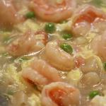SHRIMP IN LOBSTER SAUCE - JUMBO SHRIMP, PEAS, EGGS,  & WATER CHESTNUTS