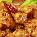 GENERAL TSO - AN ALL TIME FAVORITE, SPICY ALL WHITE MEAT CHICKEN BREADED WITH A  SPICY SACUE.