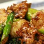 ASPARAGUS CHICKEN & SHRIMP STIR FRY